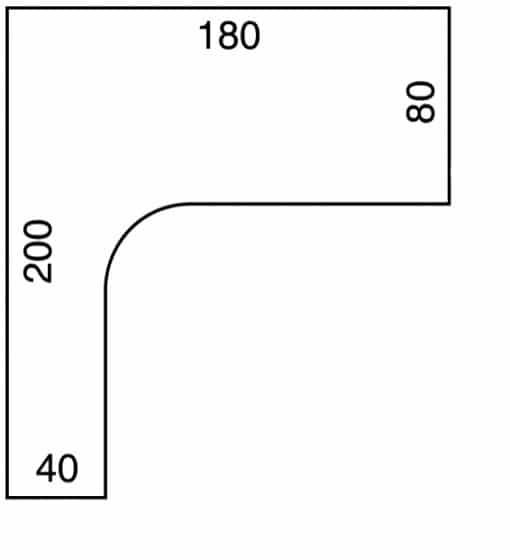 Kotna miza ERGO+ GE1800HRP