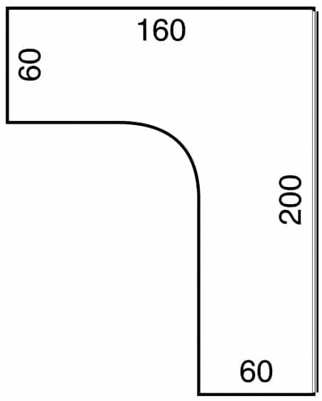 Kotna miza ERGO+ GE60HL