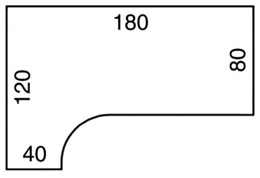 Ergonomska kotna miza UE1800P